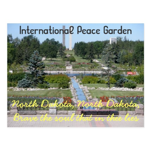 International Peace Garden North Dakota Postcard Zazzle