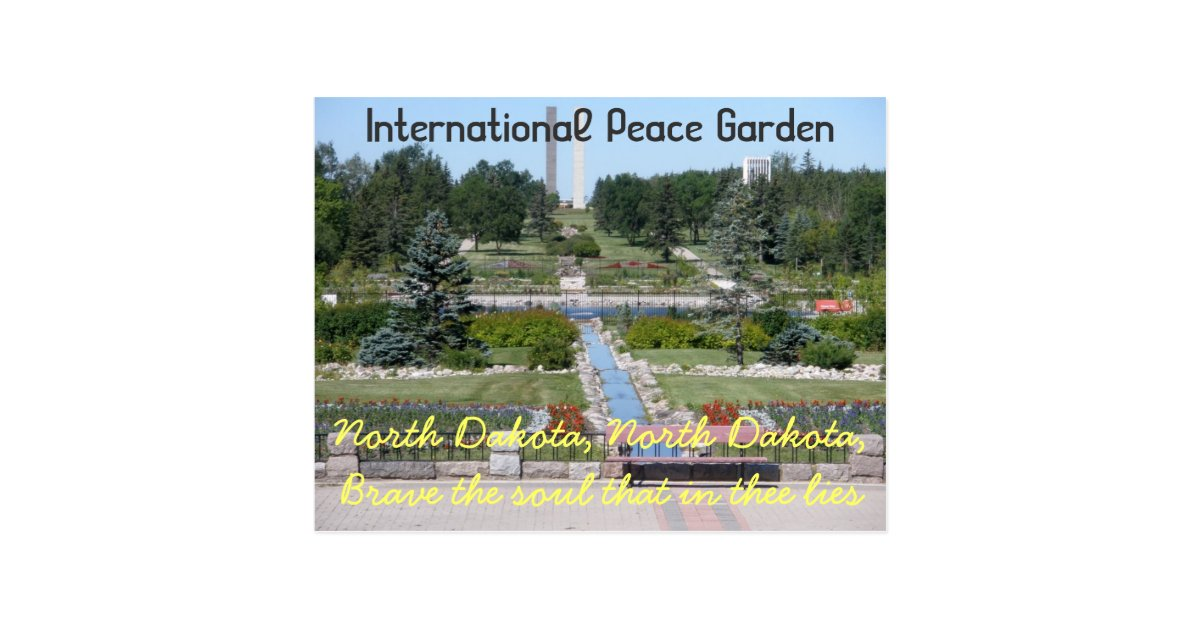 International Peace Garden North Dakota Postcard Zazzle