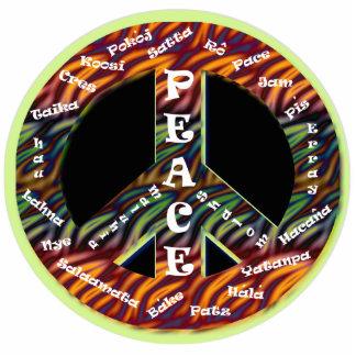International Peace Sign Pin Cutout