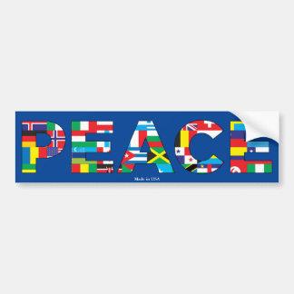 International Peace Typography Bumper Sticker