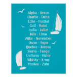 International Phonetic Alphabet Boats Shipping Poster