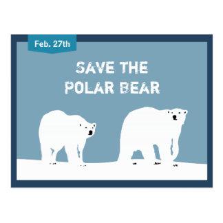 International Polar Bear Day - Save the Polar Bear Post Card