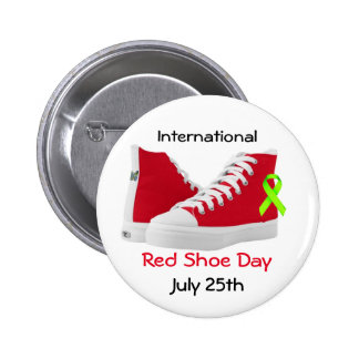 International Red Shoe Day Button