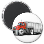 International Red-White Delivery Truck Magnets