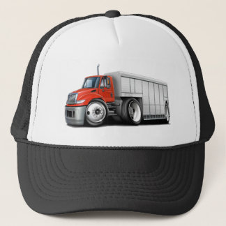 International Red-White Delivery Truck Trucker Hat