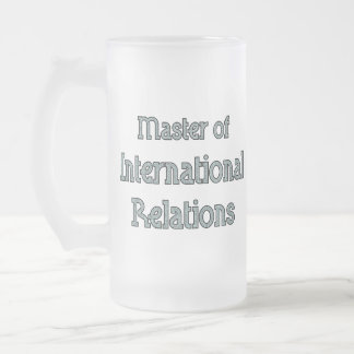 International Relations Frosted Glass Beer Mug