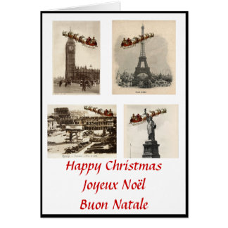 International Santa Christmas Card