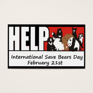 International Save Bears Day cards