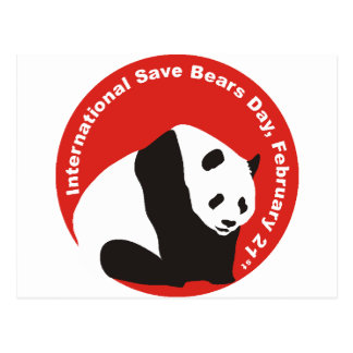 International Save Bears Day  PANDA Postcard
