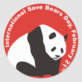 International Save Bears Day  PANDA Stickers