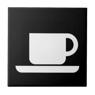 International Sign of the Coffeeeeeee Ceramic Tile