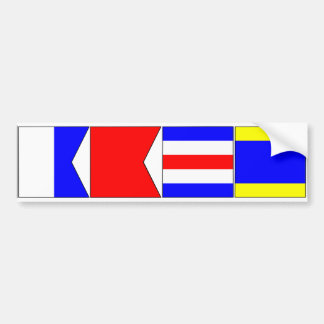 International Signal Flags Letters A, B, C, D Bumper Sticker