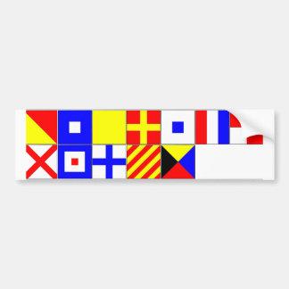 International Signal Flags Letters M  -  Z Bumper Sticker