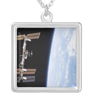 International Space Station 12 Square Pendant Necklace