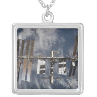 International Space Station 25 Square Pendant Necklace