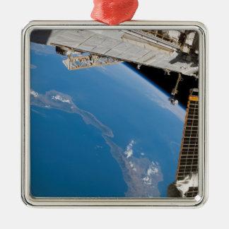 International Space Station 27 Metal Ornament