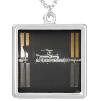 International Space Station 2 Square Pendant Necklace