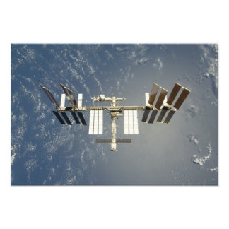 International Space Station backdropped Photo Print