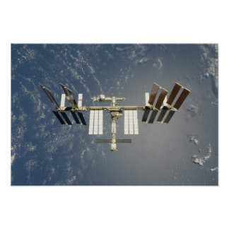 International Space Station backdropped Poster