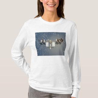 International Space Station backdropped T-Shirt