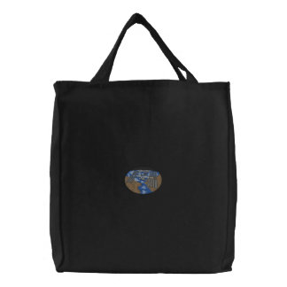 International Space Station Embroidered Tote Bag