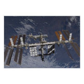 International Space Station in orbit Poster