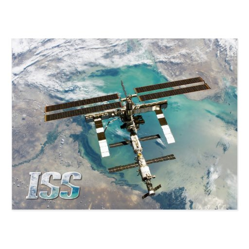 International Space Station (ISS) and Earth Postcards