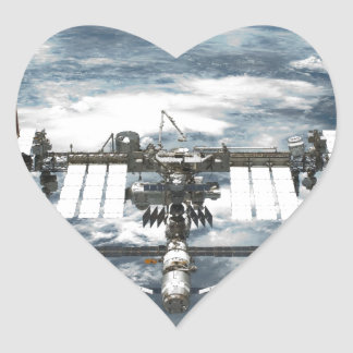International Space Station ISS, Endeavour 2011 Heart Sticker