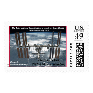 International Space Station ISS, Endeavour 2011 Postage Stamp