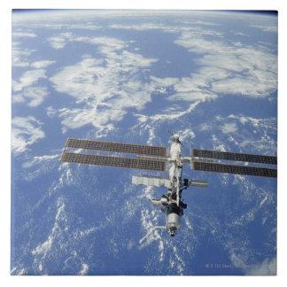 International Space Station orbiting Earth Ceramic Tile