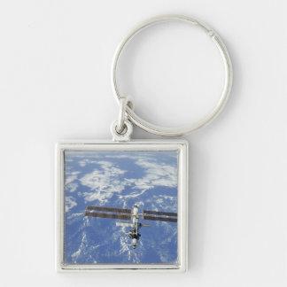 International Space Station orbiting Earth Keychain