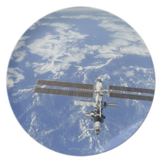 International Space Station orbiting Earth Melamine Plate