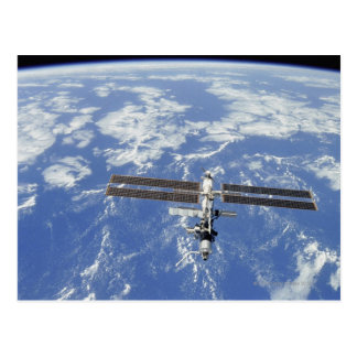 International Space Station orbiting Earth Postcard