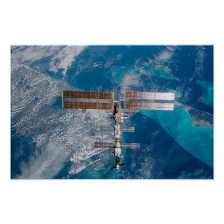 International Space Station Over Florida Poster