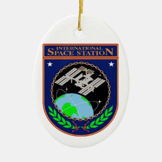 International Space Station Program Logo Ceramic Ornament