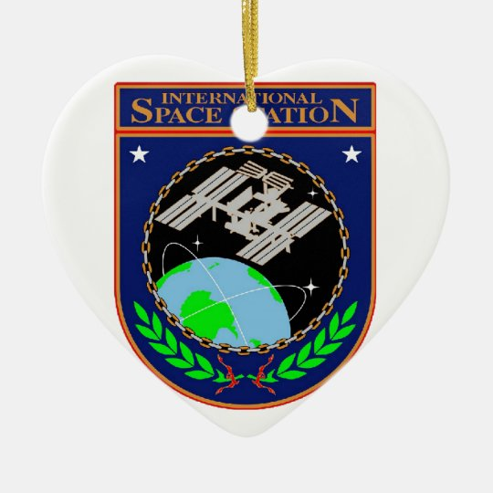 International Space Station Program Logo Ceramic Ornament