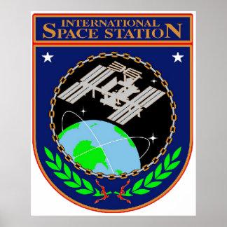 International Space Station Program Logo Poster