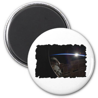 International Space Station -- Seen from Atlantis 2 Inch Round Magnet