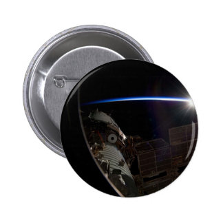 International Space Station -- Seen from Atlantis Pinback Button