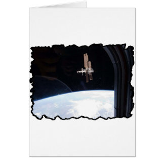 International Space Station -- Seen from Atlantis Card