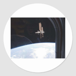 International Space Station -- Seen from Atlantis Classic Round Sticker