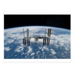 International Space Station -- Seen from Atlantis Post Card