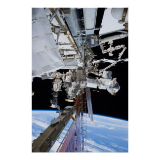 International Space Station Starboard Truss Poster