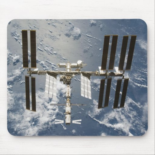 International Space Station with Kibo Lab Mouse Mats