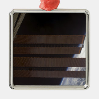 International Space Station's solar array panel Metal Ornament