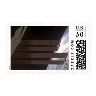 International Space Station's solar array panel Postage