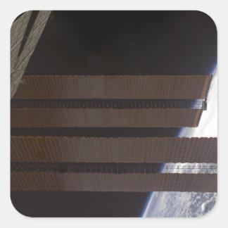 International Space Station's solar array panel Square Sticker