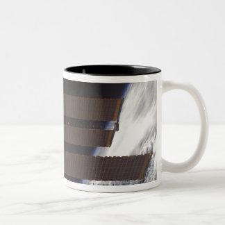 International Space Station's solar array panel Two-Tone Coffee Mug