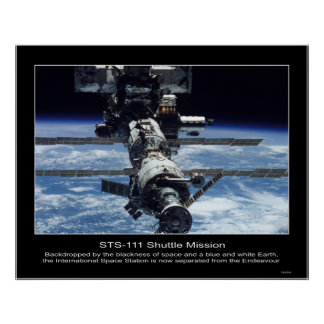 International Space Stationview from NASA STS-111 Poster