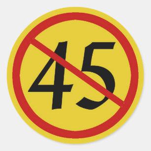 International Symbol For No With 45 Trump Clic Round Sticker